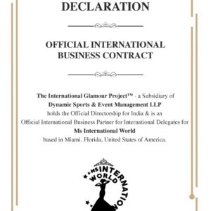 Contract - International World Pageant